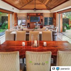 A luxury Hawaiian vacation rental with a very open floor plan. Photo by @PanaViz