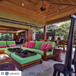 Resort home at Hualalai Resort. Architectural Photography by Panaviz