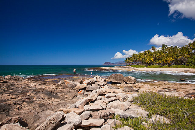 One of the natural beaches at KoOlina