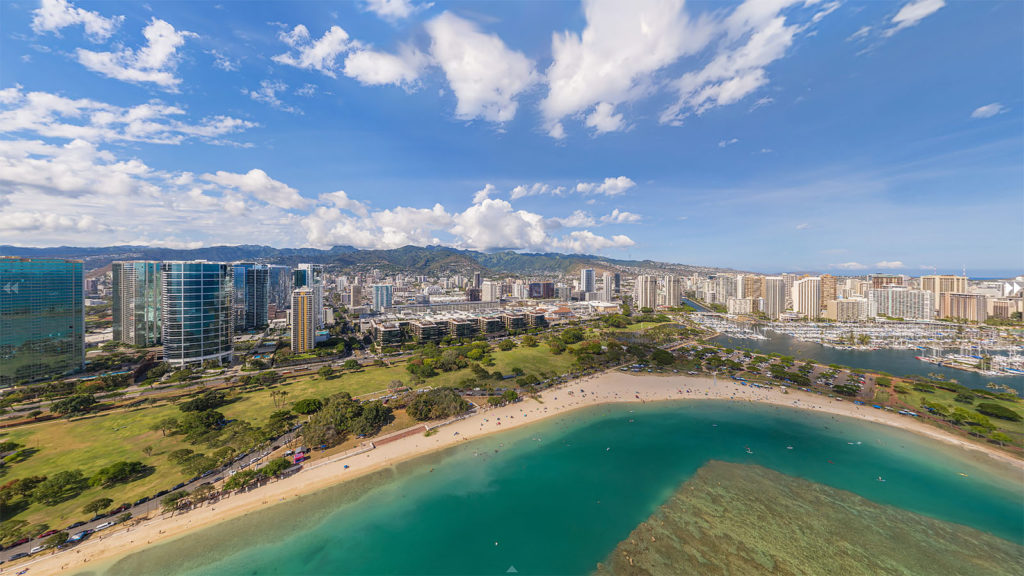 Aerial Panorama of Developments - Ala Moana