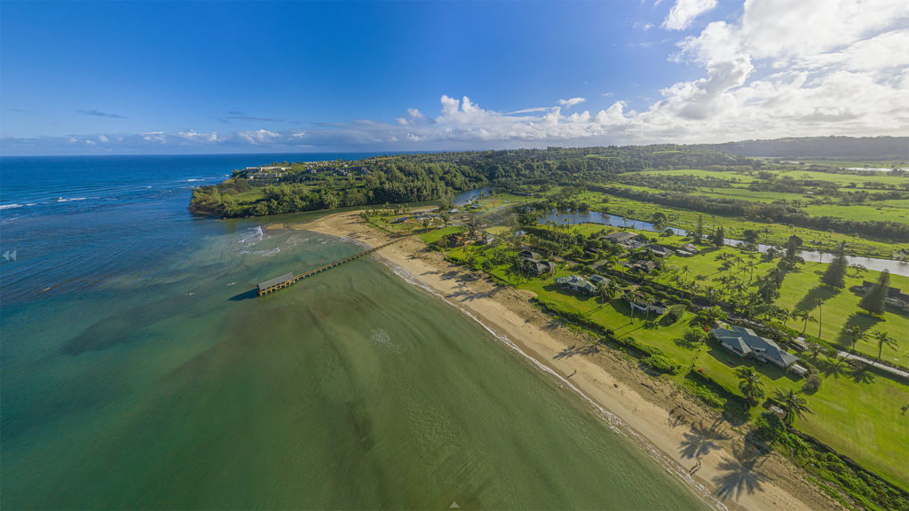 Aerial Panorama of Hanalei Bay by Hospitality Photographers