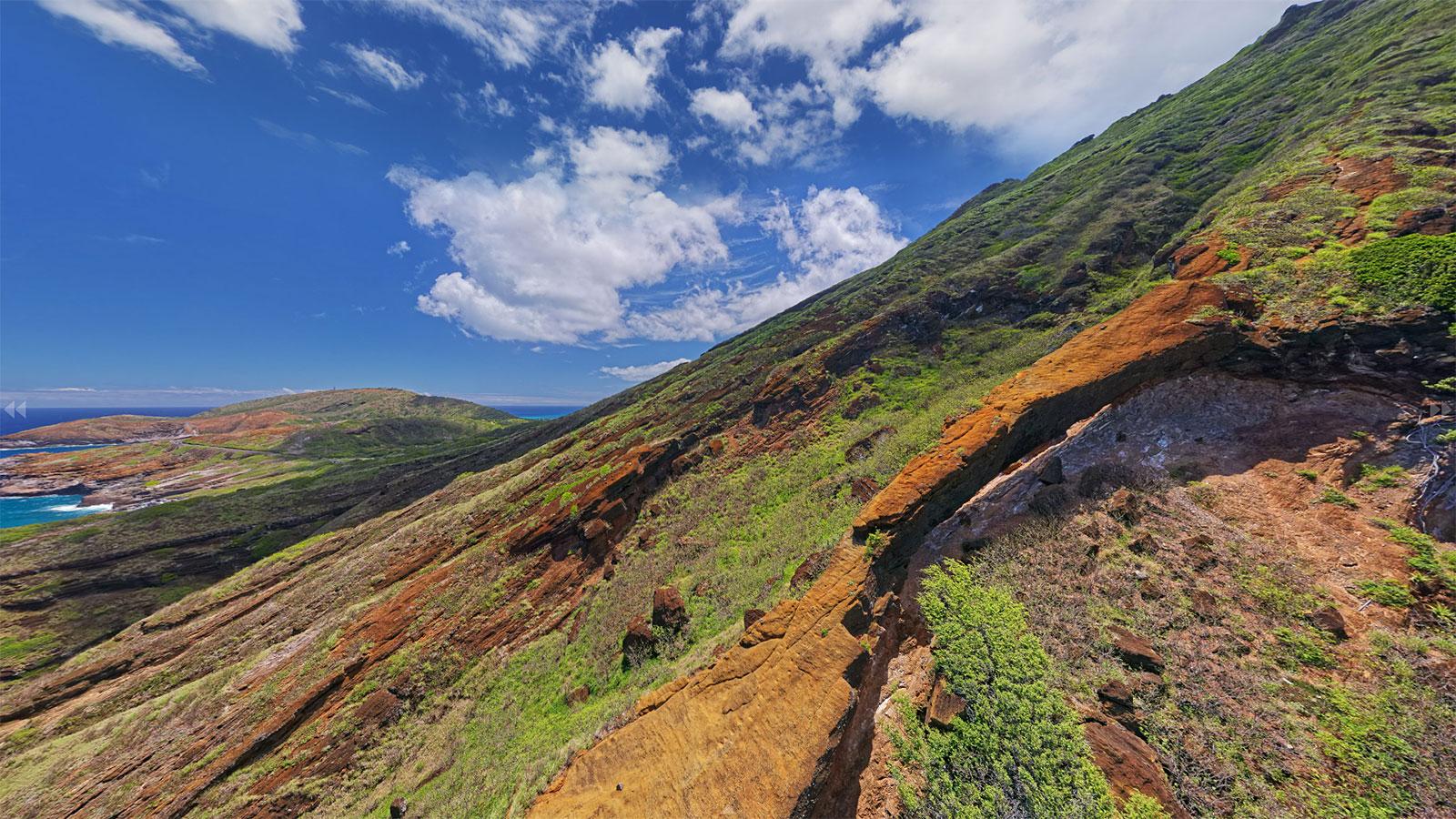 Koko Crater Aerial Panorama