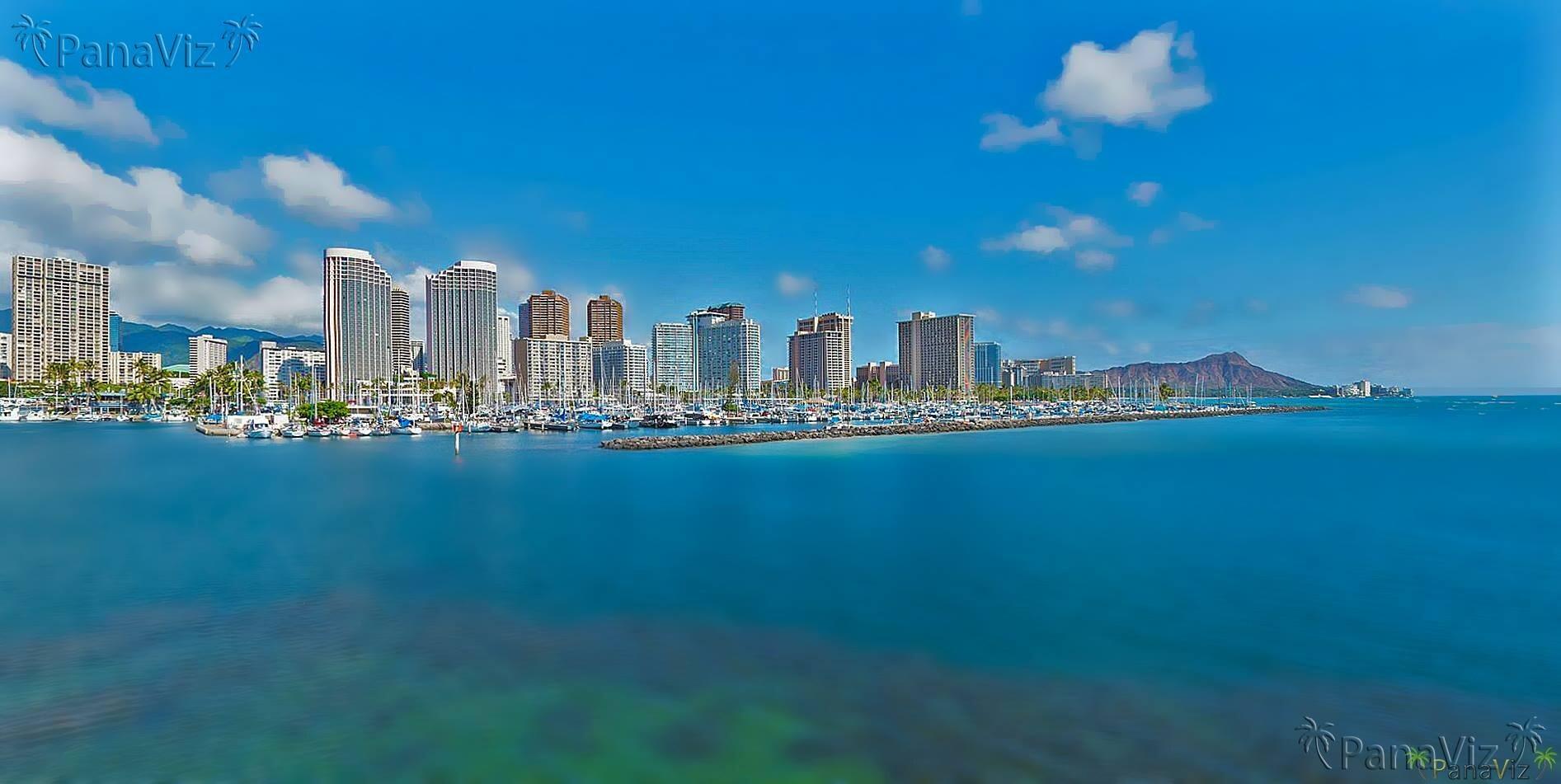 Waikiki as seen from Kaka'ako.