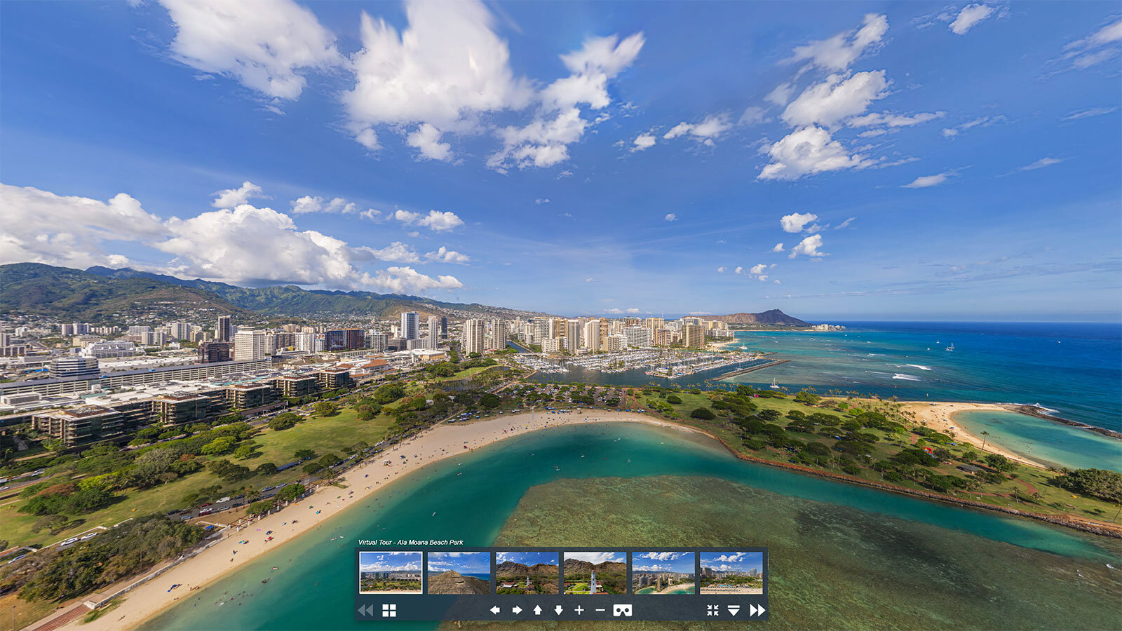 Ala Moana Beach Park and Waikiki Panoramas