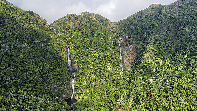 Hipuapua and Moa'ula Waterfalls