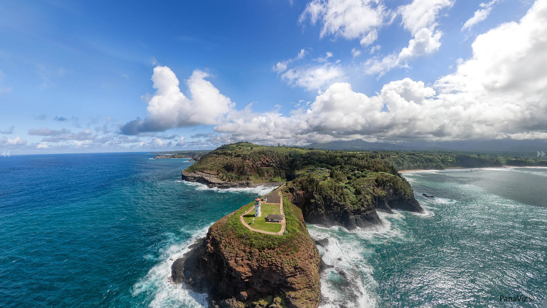 Kilauea Lighthouse Aerial Panorama