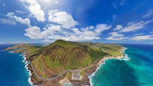 Koko Head Hawaii Aerial Panorama