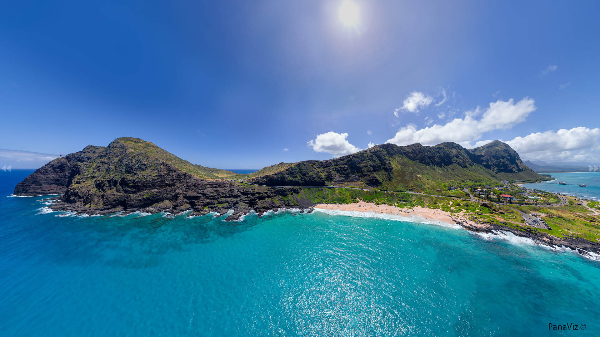 Makaupu'u Beach and Lookout Panorama