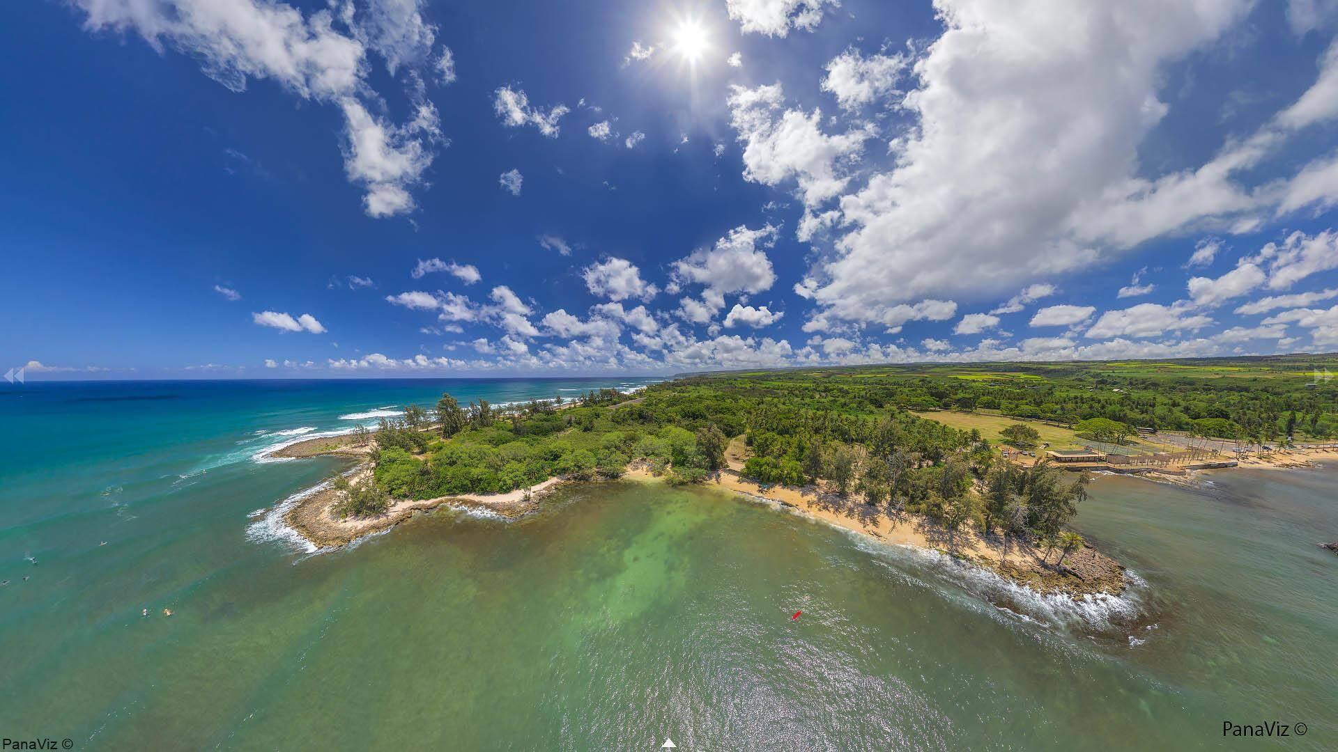 Puaena Point Aerial Panorama
