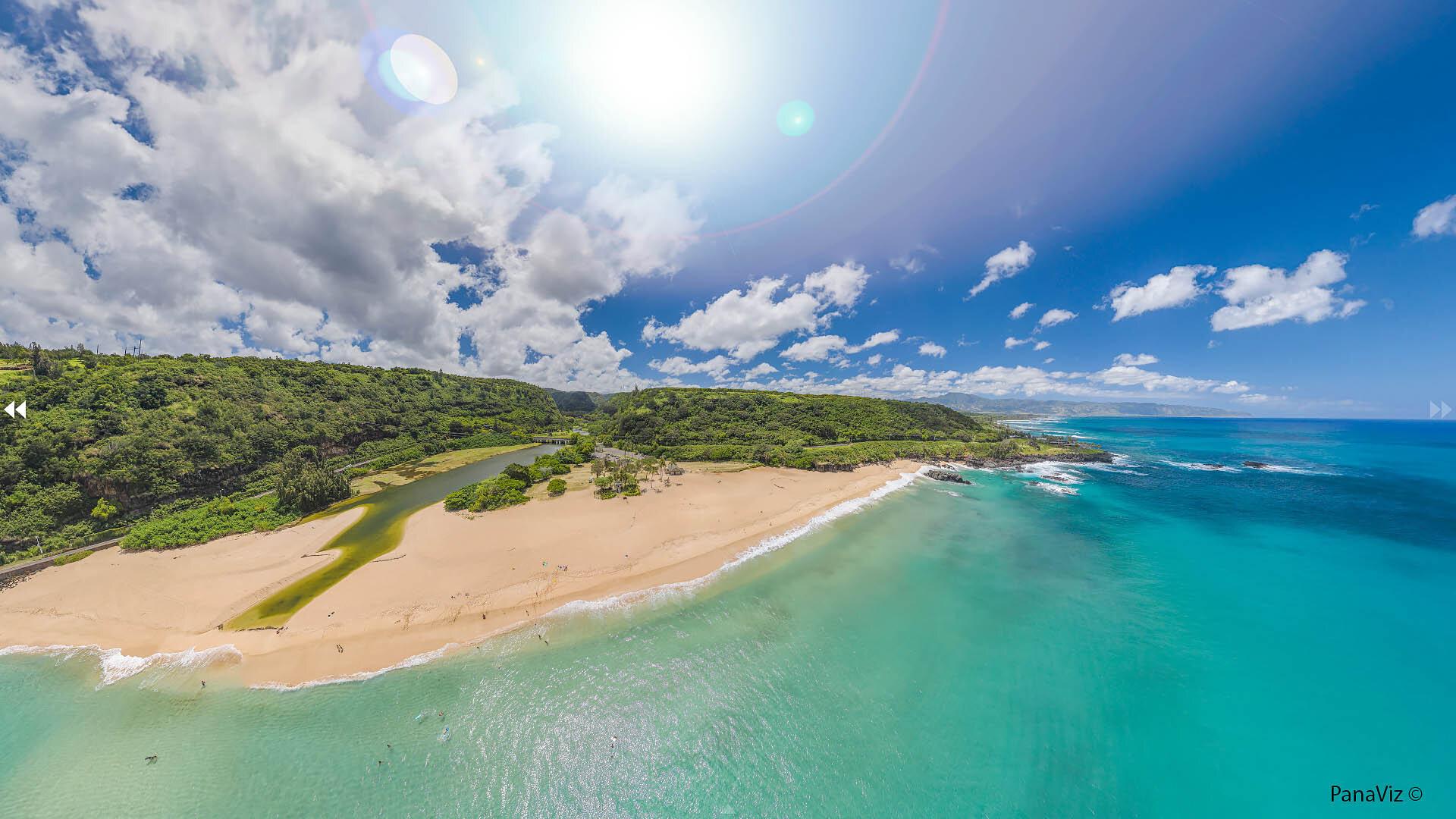 Waimea Bay Aerial Panorama by PanaViz