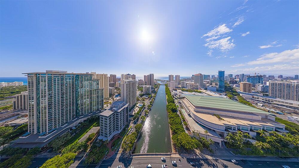 Ala Wai Canal Panorama