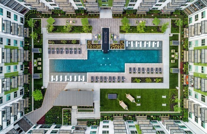 Mix Use Apartment Photography- Aerial