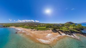 Makena Beach Maui Aerial Panorama