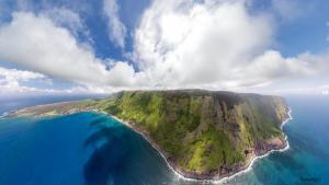 Molokai Sea Cliffs Aerial Panorama