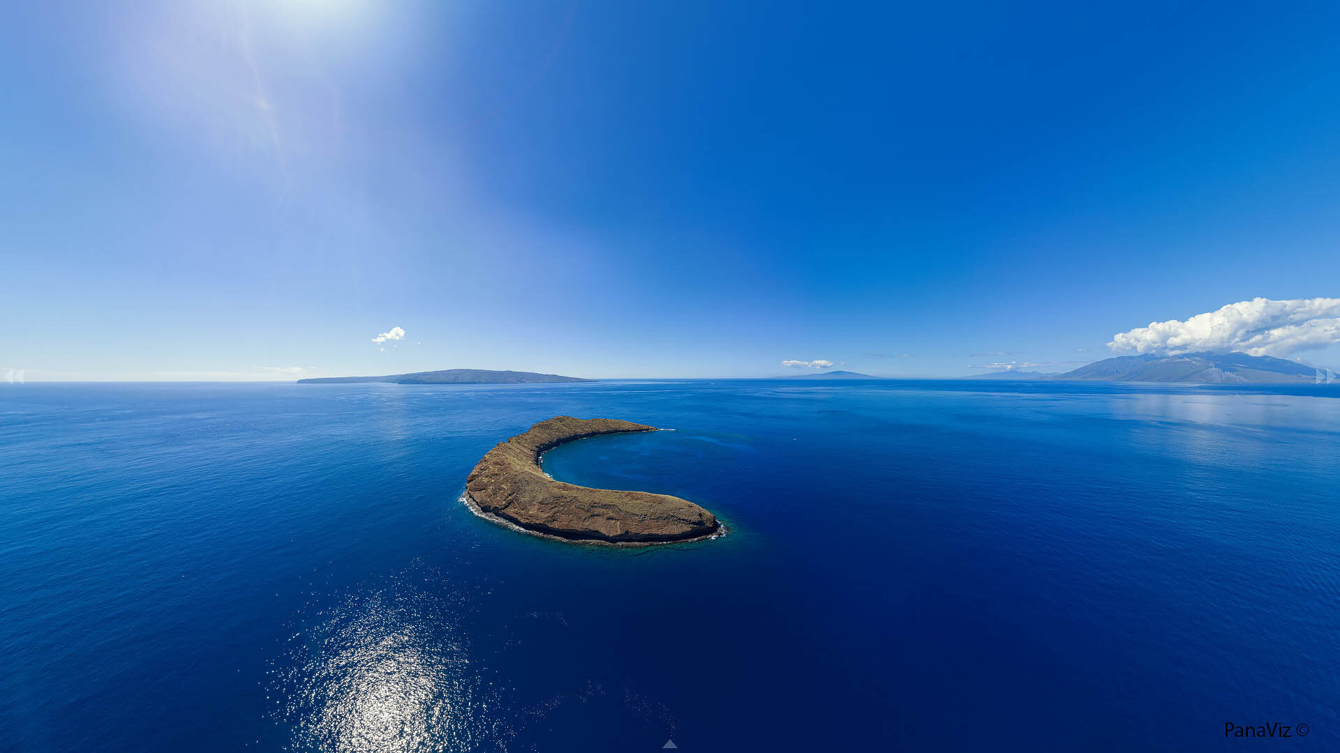 Molokini Aerial Panorama