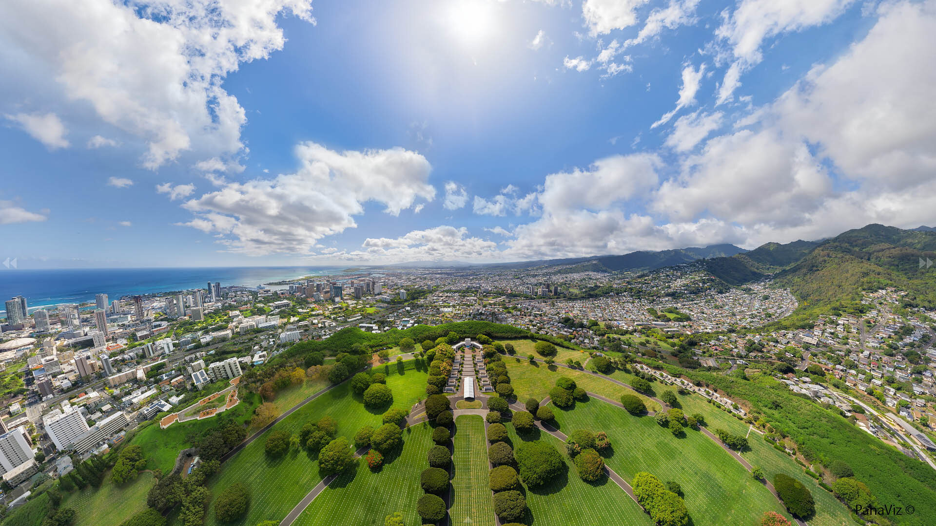 Punchbowl Cemetery Aerial Panorama
