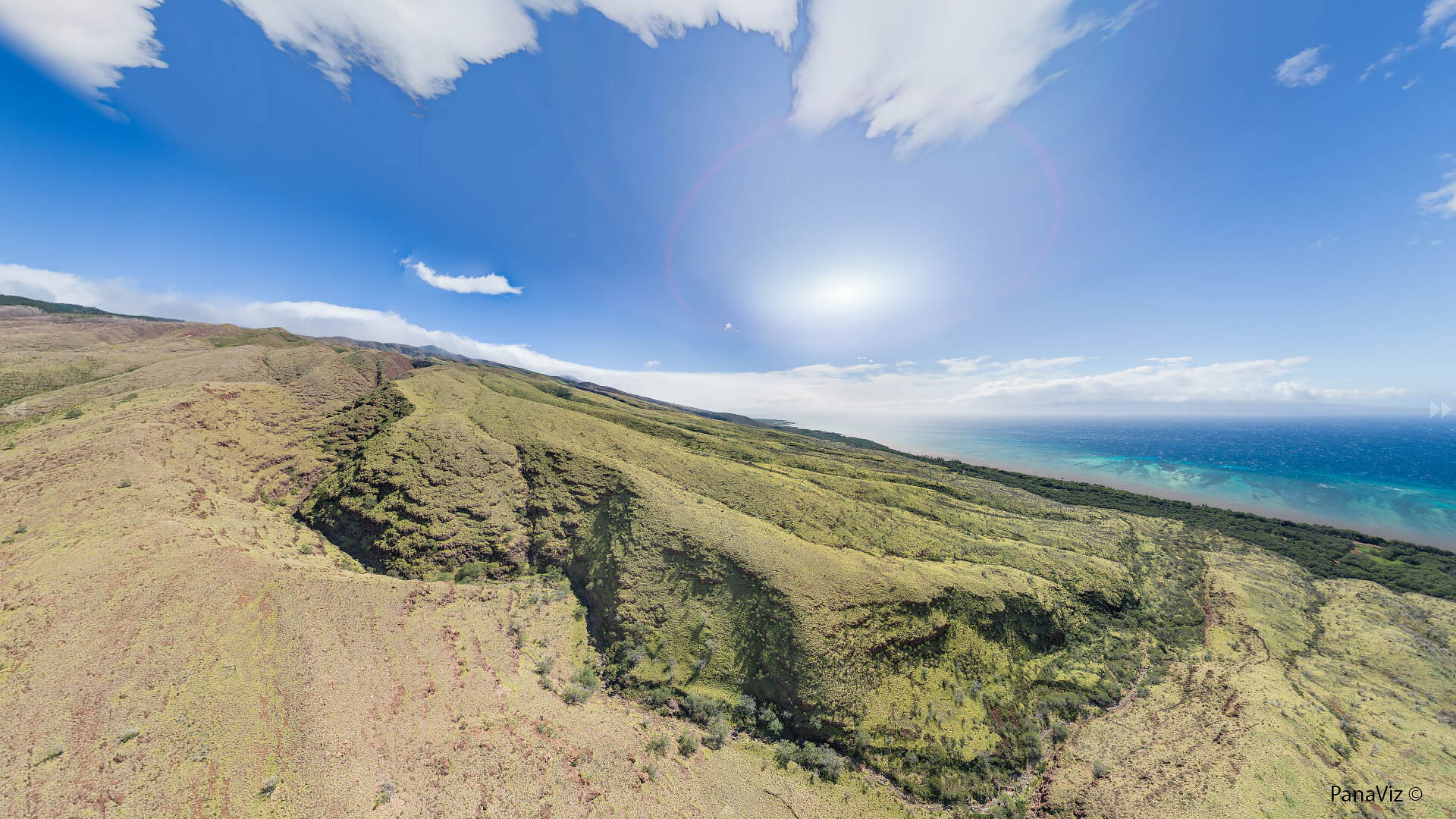 South Molokai Aerial Panorama