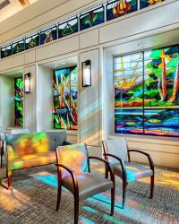 A moment of reflection. T Boone Pickens Hospice and Palliative Care Center in Dallas, TX.