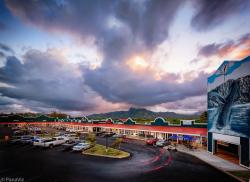 Aerial architectural photography. Commercial Real Estate on Kauai.