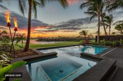 Sunset from Kohanaiki Hinahina Luxury Residences. Architect: Glazier Le Architects Builder: Maryl Interiors Furnishings: Henderson Interiors Photography: PanaViz